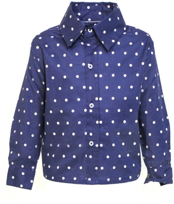 A Little Fable Boy's Solid Party Dark Blue Shirt