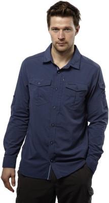Craghoppers Men's Solid Sports Dark Blue Shirt