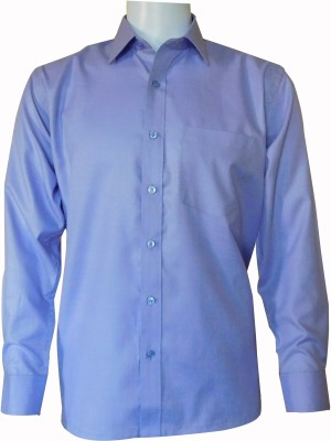 Ardeur Men's Solid Formal Purple Shirt