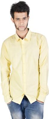 Corpus Men's Solid Casual Yellow Shirt