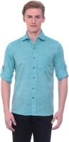 Tabser Formal Shirts (Men's) - Tabser Men's Solid Formal Green Shirt