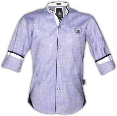 Fingerchips Boys Solid Casual Purple Shirt