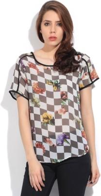 Lee Women's Printed Formal Multicolor Shirt at flipkart