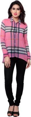 SFDS Women's Striped Casual Pink Shirt