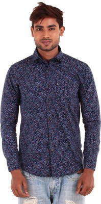 The G Street Men's Printed Casual Purple Shirt