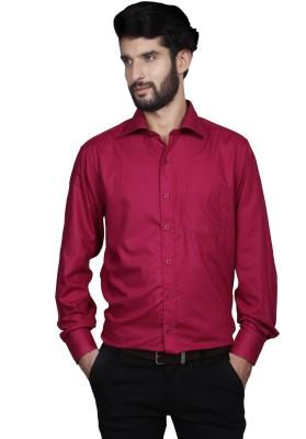 Yorkshire Men's Solid Formal Pink Shirt