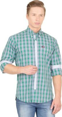 Union Street Clothing Men's Checkered Casual Green, Blue Shirt