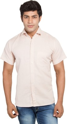 Nauhwar Men's Solid Formal Pink Shirt