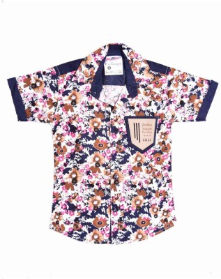 British Terminal Boy's Self Design Casual Pink Shirt