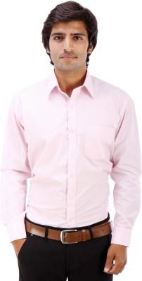 Elite Formals Men's Solid Formal Pink Shirt