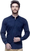 Tinted Formal Shirts (Men's) - Tinted Men's Solid Formal Dark Blue Shirt