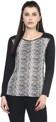 The Vanca Women's Printed Casual Black Shirt