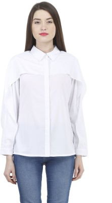 House Of Fett Women's Solid Formal White Shirt