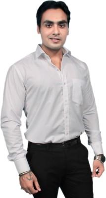 Jeffrey Rozers Men's Solid Formal White Shirt