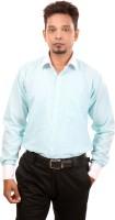 Bellavita Formal Shirts (Men's) - Bellavita Men's Self Design Formal Light Green Shirt