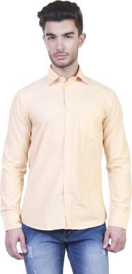 BlackRooster Men's Solid Casual Beige Shirt