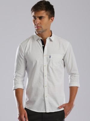 HRX by Hrithik Roshan Men's Striped Casual White Shirt