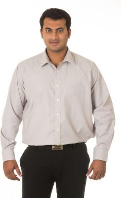 Nova Scottia Men's Solid Formal Grey Shirt