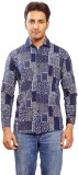 Trinath Men's Self Design Formal Blue Sh...