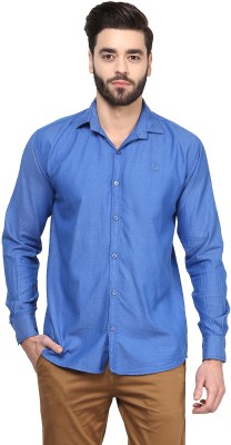 Rodamo Men,s Solid Casual Blue Shirt