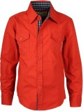 Joshua Tree Boys Printed Casual Red Shir...