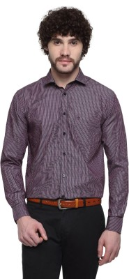 D,INDIAN CLUB Men's Striped Formal Multicolor Shirt