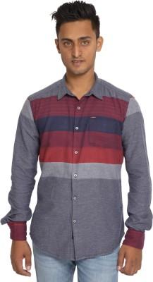 EvergreenShirts Men's Self Design Casual Multicolor Shirt