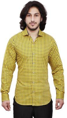 Dave Men's Graphic Print Casual Yellow Shirt