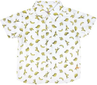 Wow Mom Baby Boy's Printed Casual Yellow Shirt
