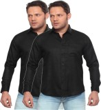 Shivam Garments Men's Solid Formal Black...