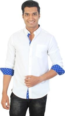 Tonyloom Men's Solid Casual White Shirt
