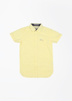 Pepe Jeans Boy's Solid Casual Yellow Shirt