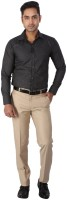 Regza Formal Shirts (Men's) - Regza Men's Checkered Formal Black Shirt
