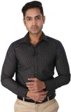 Regza Men's Checkered Formal Black Shirt