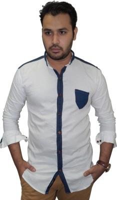 Ali Darzi Men's Solid Casual White Shirt