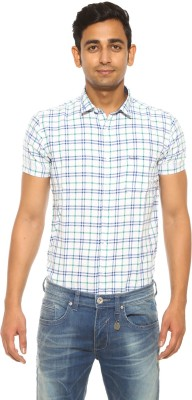 Pepe Jeans Men's Checkered Casual White Shirt