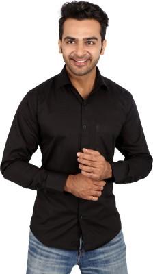 Regza Men's Solid Formal Black Shirt