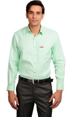 GARGI FASHIONS Men's Solid Casual Light Green, White Shirt