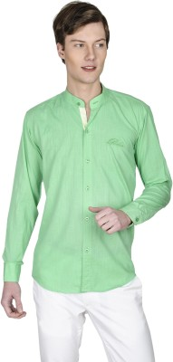 Poker Dreamz Men's Solid Casual Light Green Shirt