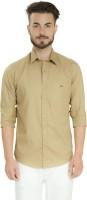 Club X Formal Shirts (Men's) - Club X Men's Self Design Formal Beige Shirt