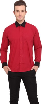 Ennoble Men's Solid Casual Red Shirt
