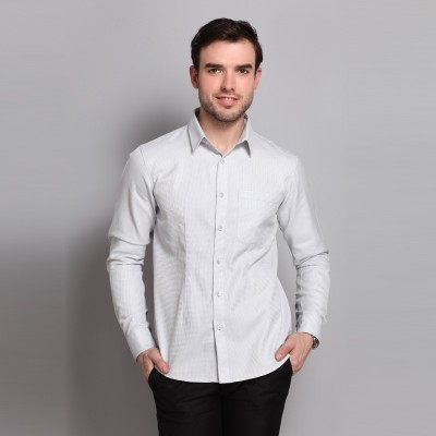 Colormode Men's Solid Formal Grey Shirt