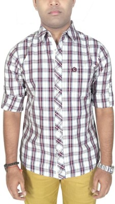 Southbay Men's Checkered Casual, Party, Lounge Wear Purple Shirt