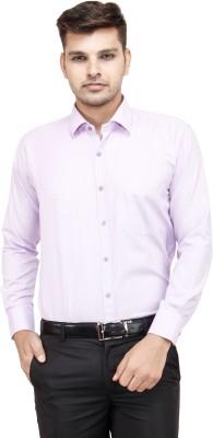 FranklinePlus Men's Solid Formal Purple Shirt
