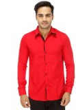 Wineberry Men's Solid Casual Red Shirt