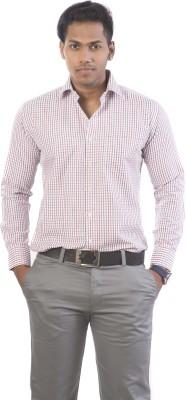 N&K Signature Men's Checkered Formal Multicolor Shirt