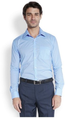 Park Avenue Men,s Printed Formal Blue Shirt