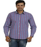 TT Men's Checkered Casual Red Shirt