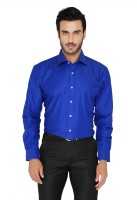 Blacksmith Formal Shirts (Men's) - Blacksmith Men's Solid Formal Blue, Dark Blue Shirt