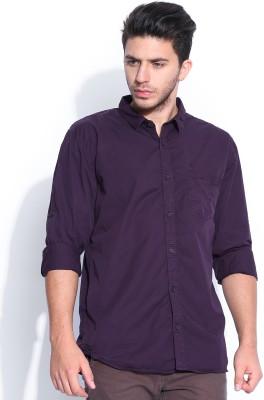HRX by Hrithik Roshan Men's Solid Casual Purple Shirt